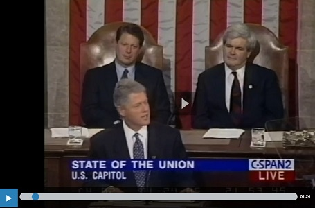 Bill Clinton on Immigration, 1995 State of the Union Address